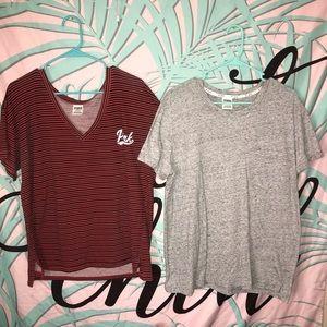 Bundle of two PINK shirts